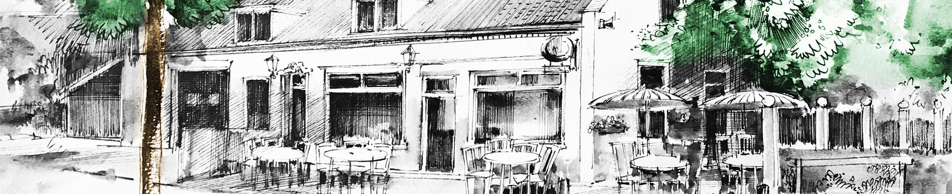 Café Kanters - pentekening Wijnand Thönissen